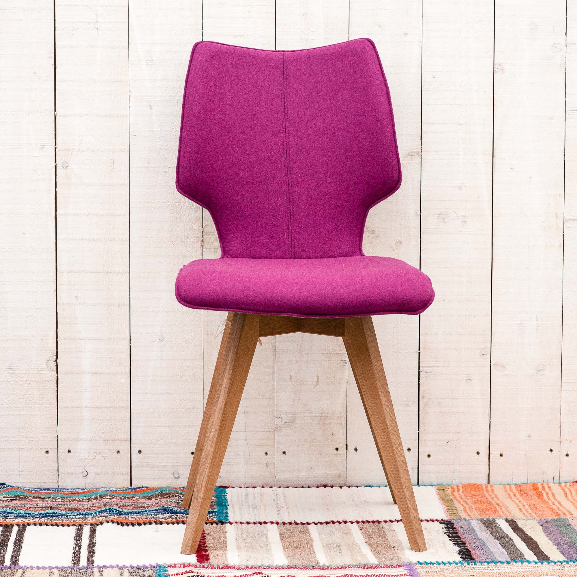 Buy Clipper Felt Covered Dining Chairs Contemporary Furniture