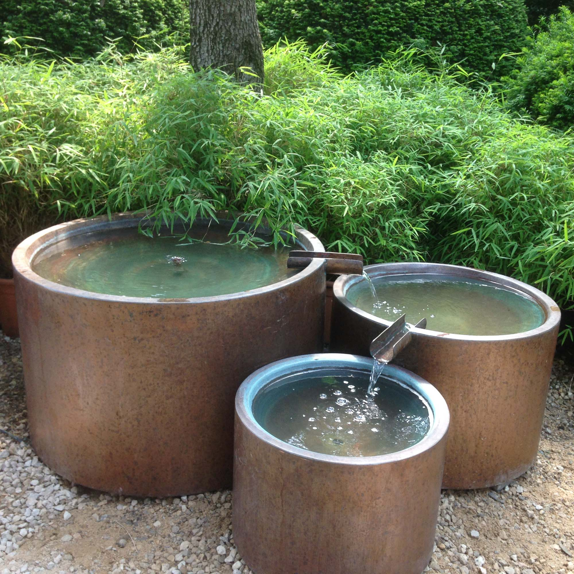 Trio Copper Water Feature