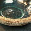 Elin Green Glazed Bowl 30cm detail