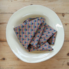 Cressida Bell for Burford Tea Towels Purple Fan