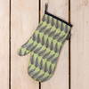 Cressida Bell for Burford Single Oven Gloves Green Leaf
