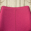 Clipper Felt Covered Dining Chair – Fuchsia seat back
