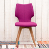 Clipper Felt Covered Dining Chair – Fuchsia
