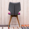 Clipper Felt Covered Dining Chair – Fuchsia reverse
