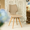 Clipper Leather Covered Dining Chair - Mocca