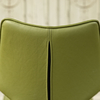 Clipper Leather Covered Dining Chair - Olive Green reverse