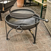 60cm Plain Jane Fire Pit with Swing Arm