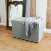 Lloyd Loom Blanket Box - Hampton Green