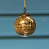 Glass Crackle Bauble Gold _ Small