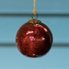 Glass Crackle Bauble Red - Large
