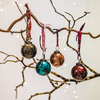 Small Isala Hammered Glass Baubles – Mixed Colours