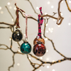 Small Isala Hammered Glass Baubles