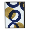 Large Rectangular Glass Tray - Gold and Blue Halos