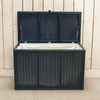 Lloyd Loom Blanket Box - Indigo Blue