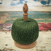 British Made Oak Twine Stand – Large Green