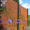 Post with Drift in Corten Steel High High