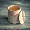 Burford Part Glazed Ceramic Single Wick Candles