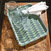 Cressida Bell for Burford Trays Green Leaf