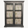 Brookby Black Glass Fronted Wall Cabinet Small