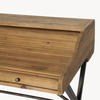 Woodcroft Bleached Pine and Metal Rolltop Desk