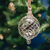 Mistral Glass Baubles Silver