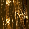 Indoor Rain Silver Wire Multiple String LED Lights Amber 702