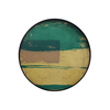 Abstract Turquoise Round Tray