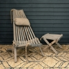 Swedish Folding Wood and Rope Chair (available separately) and Stool Ash Grey