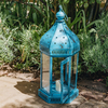 Arabian Lantern – Blue. Candle not included