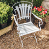 Vintage Iron and Teak Garden Chair
