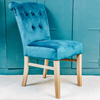 Petrol Chanti Velvet Dining Chair