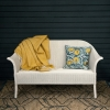 Classic Lloyd Loom Sofas with Cushion in Snow White