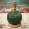British Made Oak Twine Stand – Small Green