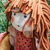 Anemone Rag Doll (detail of head)
