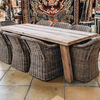 Cronus Old Oak Dining Table (with Octavia Croco chairs)