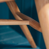 Devon Contemporary Armchair in Ash and Elm (detail of stretcher)