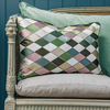 Harlequin Cushion, Ivy