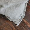 Sunshine Linen Cushion, Natural (fringe detail)