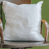 Sunshine Linen Cushion, White