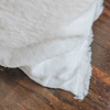 Sunshine Linen Cushion, White (fringe detail)