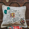 Albanian Knotted Butterfly Cushion Grey Large