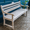 Indian Mango Wood Bench Bobbin White