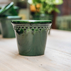 Emerald Glazed Copenhagen Pot