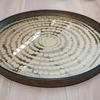 Gold Beads Mirror Tray