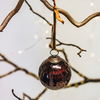 Large Red Isala Hammered Glass Bauble