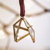 Pyramid/Triangle Tiny Kiko Brass Box Bauble