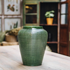 Emerald Glazed Willow Vase
