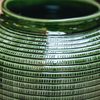 Emerald Glazed Willow Vase detail