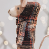 Brown Felt Mouse in Duffel Coats Christmas Decoration