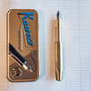 Kaweco Fountain Pen Brass Sport (cap on barrel), with tin